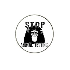 Stop Animal Testing   Chimpanzee  Hat Clip Ball Marker (4 Pack)