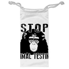 Stop Animal Testing   Chimpanzee  Jewelry Bag by Valentinaart