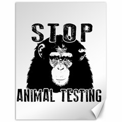 Stop Animal Testing   Chimpanzee  Canvas 12  X 16   by Valentinaart