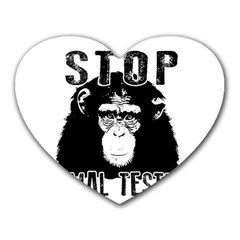 Stop Animal Testing   Chimpanzee  Heart Mousepads by Valentinaart