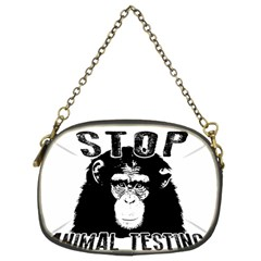 Stop Animal Testing   Chimpanzee  Chain Purses (two Sides)  by Valentinaart