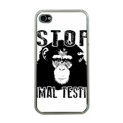 Stop Animal Testing   Chimpanzee  Apple Iphone 4 Case (clear)