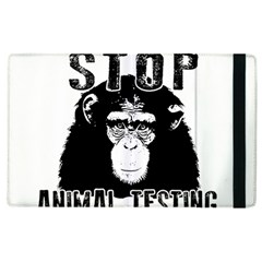 Stop Animal Testing   Chimpanzee  Apple Ipad 2 Flip Case by Valentinaart