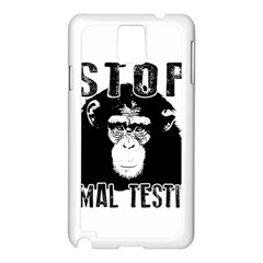 Stop Animal Testing   Chimpanzee  Samsung Galaxy Note 3 N9005 Case (white) by Valentinaart