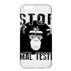 Stop Animal Testing   Chimpanzee  Apple Iphone 6 Plus/6s Plus Hardshell Case by Valentinaart