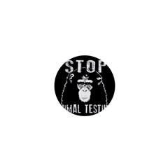 Stop Animal Testing   Chimpanzee  1  Mini Buttons by Valentinaart