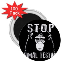 Stop Animal Testing   Chimpanzee  2 25  Magnets (100 Pack)  by Valentinaart