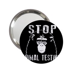 Stop Animal Testing   Chimpanzee  2 25  Handbag Mirrors by Valentinaart