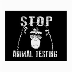 Stop Animal Testing   Chimpanzee  Small Glasses Cloth by Valentinaart