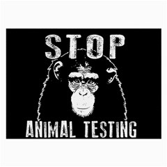 Stop Animal Testing   Chimpanzee  Large Glasses Cloth (2 Side)
