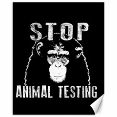Stop Animal Testing   Chimpanzee  Canvas 11  X 14   by Valentinaart