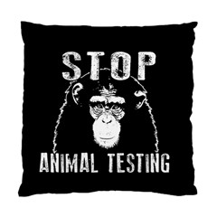 Stop Animal Testing   Chimpanzee  Standard Cushion Case (one Side) by Valentinaart