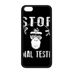 Stop Animal Testing   Chimpanzee  Apple Iphone 5c Seamless Case (black) by Valentinaart