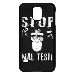 Stop Animal Testing   Chimpanzee  Samsung Galaxy S5 Case (black)