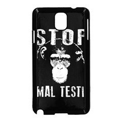 Stop Animal Testing   Chimpanzee  Samsung Galaxy Note 3 Neo Hardshell Case (black) by Valentinaart