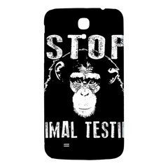 Stop Animal Testing   Chimpanzee  Samsung Galaxy Mega I9200 Hardshell Back Case by Valentinaart