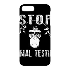Stop Animal Testing   Chimpanzee  Apple Iphone 7 Plus Hardshell Case