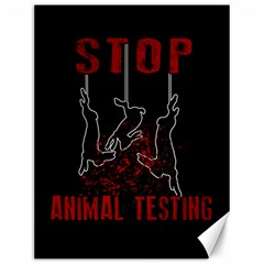 Stop Animal Testing   Rabbits  Canvas 12  X 16   by Valentinaart