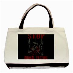 Stop Animal Testing   Rabbits  Basic Tote Bag (two Sides) by Valentinaart