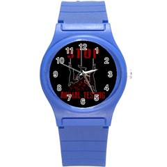 Stop Animal Testing   Rabbits  Round Plastic Sport Watch (s) by Valentinaart