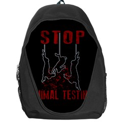 Stop Animal Testing   Rabbits  Backpack Bag by Valentinaart