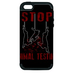 Stop Animal Testing   Rabbits  Apple Iphone 5 Hardshell Case (pc+silicone) by Valentinaart
