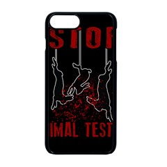 Stop Animal Testing   Rabbits  Apple Iphone 8 Plus Seamless Case (black) by Valentinaart