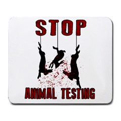 Stop Animal Testing   Rabbits  Large Mousepads by Valentinaart
