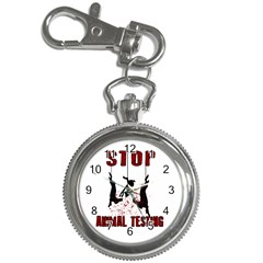 Stop Animal Testing   Rabbits  Key Chain Watches by Valentinaart