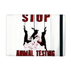 Stop Animal Testing   Rabbits  Apple Ipad Mini Flip Case by Valentinaart