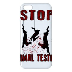 Stop Animal Testing   Rabbits  Iphone 5s/ Se Premium Hardshell Case by Valentinaart
