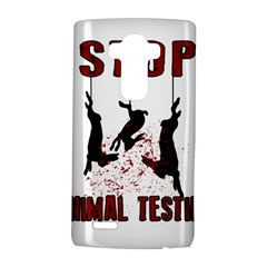 Stop Animal Testing   Rabbits  Lg G4 Hardshell Case by Valentinaart