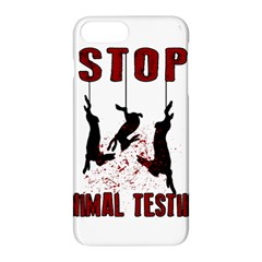 Stop Animal Testing   Rabbits  Apple Iphone 8 Plus Hardshell Case by Valentinaart