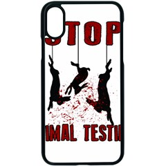 Stop Animal Testing   Rabbits  Apple Iphone X Seamless Case (black) by Valentinaart