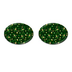 St Patricks Day Pattern Cufflinks (oval) by Valentinaart