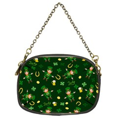 St Patricks Day Pattern Chain Purses (two Sides)  by Valentinaart