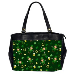 St Patricks Day Pattern Office Handbags (2 Sides)  by Valentinaart
