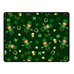 St Patricks Day Pattern Fleece Blanket (small) by Valentinaart