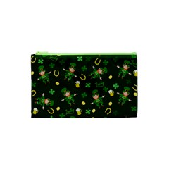 St Patricks Day Pattern Cosmetic Bag (xs) by Valentinaart