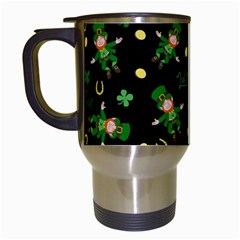 St Patricks Day Pattern Travel Mugs (white) by Valentinaart