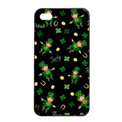 St Patricks Day Pattern Apple Iphone 4/4s Seamless Case (black)