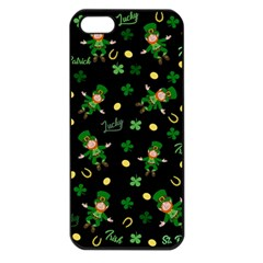 St Patricks Day Pattern Apple Iphone 5 Seamless Case (black)