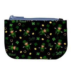 St Patricks Day Pattern Large Coin Purse by Valentinaart