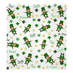 St Patricks Day Pattern Shower Curtain 66  X 72  (large)  by Valentinaart