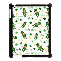 St Patricks Day Pattern Apple Ipad 3/4 Case (black) by Valentinaart