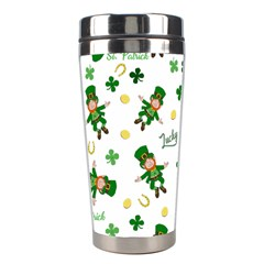 St Patricks Day Pattern Stainless Steel Travel Tumblers by Valentinaart