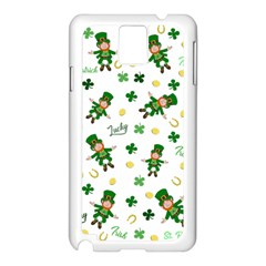 St Patricks Day Pattern Samsung Galaxy Note 3 N9005 Case (white) by Valentinaart