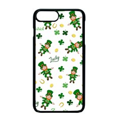 St Patricks Day Pattern Apple Iphone 7 Plus Seamless Case (black) by Valentinaart