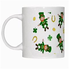 St Patricks Day Pattern White Mugs by Valentinaart