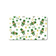 St Patricks Day Pattern Magnet (name Card) by Valentinaart